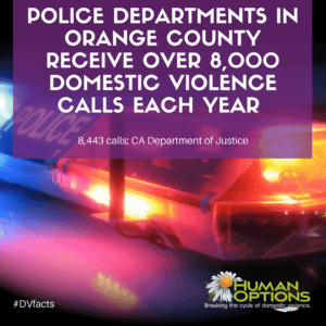 Police departments in Orange County receive over 8,000 domestic violence calls each year.